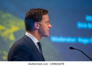 Prime Minister Mark Rutte At The World Retail Congress At The Rai Complex Amsterdam The Netherlands 2019