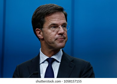 Prime Minister of the Netherlands, Mark Rutte gives a press conference at the results of European Union (EU) leaders summit of  in Brussels, Belgium on June 29, 2016.