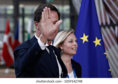 Prime Minister of the Netherlands, Mark Rutte arrives for a summit of European Union (EU) leaders in Brussels, Belgium on June 22, 2017