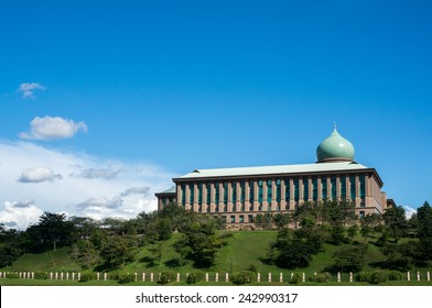 Prime Minister Office, Putrajaya, Malaysia during a blue sunny day