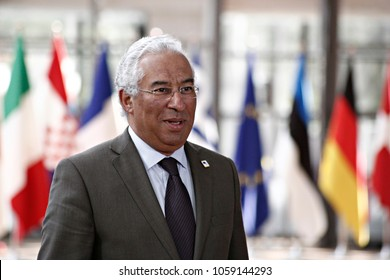 Prime Minister of Portugal, Antonio Costa arrives for a summit of European Union (EU) leaders in Brussels, Belgium on Apr. 29, 2017