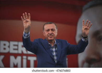 Prime Minister Recep Tayyip Erdogan, 28 August 2016, Gaziantep, Turkey
