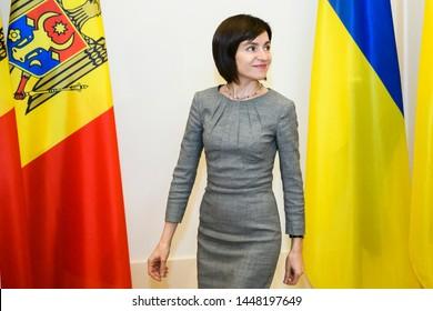 Prime Minister of the Republic of Moldova Maia Sandu during visit to Kyiv, Ukraine. 11-07-2019