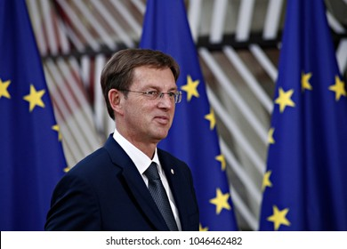 Prime Minister of Slovenia Miro Cerar attends the EU members' informal meeting of the 27 heads of state or government at European Council headquarters  in Brussels, Belgium on Jun. 22, 2017