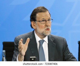 Prime Minister of Spain, Mariano Rajoy, at the German Chancellery in Berlin - 2017-06-29