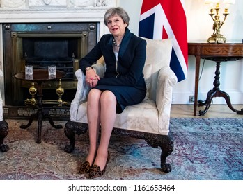 Prime Minister of the United Kingdom Theresa May  in her residence at 10 Downing Street in London, UK. 05-07-2017