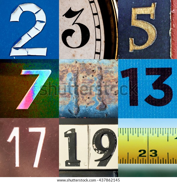 Prime number collage