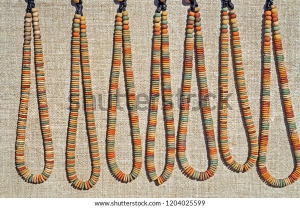 primitive-clay-bead-necklaces-similar-60