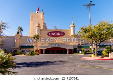 Primm, NV - December 1, 2018. Whiskey Pete's casino. Whiskey Pete's is on the border of Nevada and California