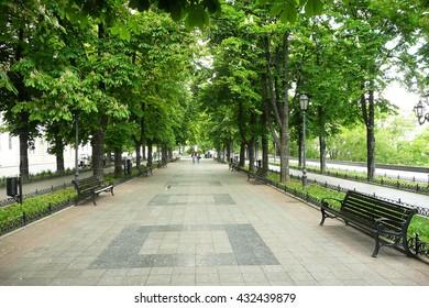 Primorsky boulevard in Odessa, Ukraine.