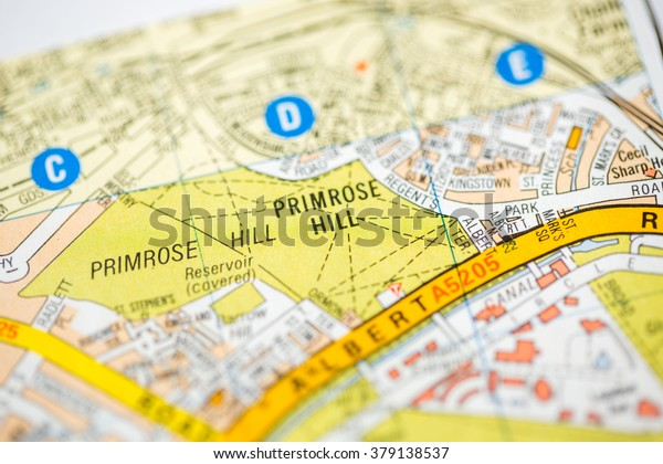 Primrose Hill Map Primrose Hill London Uk Map Stock Photo (Edit Now) 379138537