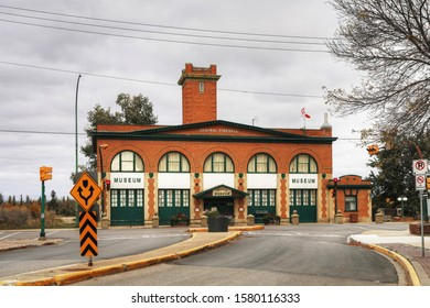PRINCE ALBERT, SASKATCHEWAN/CANADA- SEPTEMBER 27, 2019: Prince Albert Historical Museum in Prince Albert, Saskatchewan, Canada. Formerly the city's first fire hall which was constructed in 1912