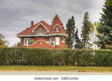 PRINCE ALBERT, SASKATCHEWAN/CANADA- SEPTEMBER 27, 2019: Keyhole Castle in Prince Albert, Saskatchewan, Canada. Built in 1912 and a National Historic Site