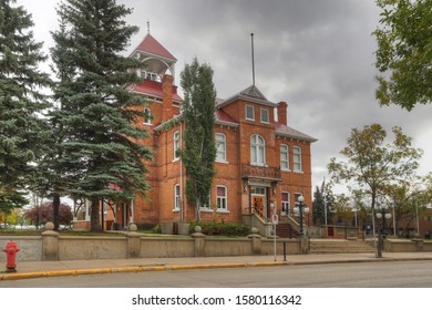 PRINCE ALBERT, SASKATCHEWAN/CANADA- SEPTEMBER 27, 2019: Prince Albert Arts Centre in Prince Albert, Saskatchewan, Canada. Formerly the City Hall and a National Historic Site