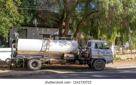Prince Albert, South Africa - August 7, 2018: the local municipality provides a septic tank pumpout services as part of their basic municipal service to residents of the small Karoo town