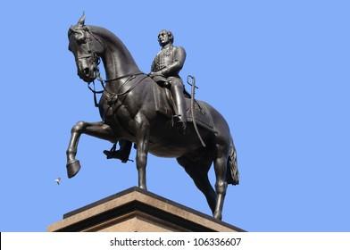 Prince Albert statue George Square, Glasgow, Scotland. UK