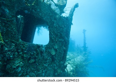 The Prince Albert wreck off the island of Roatan, Honduras.