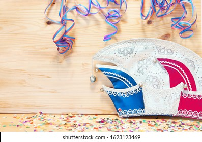Prince cap for carnival, copy space