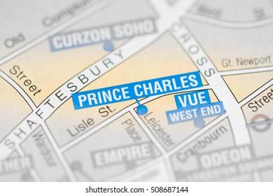Prince Charles Cinema. London, UK map.