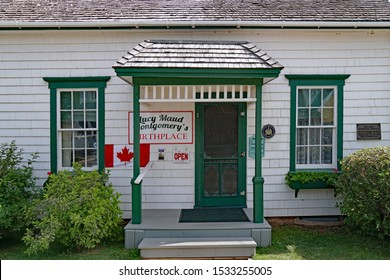 PRINCE EDWARD ISLAND, CANADA - AUGUST 2019:  The modest birthplace of Lucy Maud Montgomery, author of Anne of Green Gables, is preserved and open to visitors.