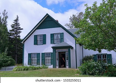 PRINCE EDWARD ISLAND, CANADA - AUGUST 2019:  The house in which the beloved character Anne of Green Gables was situated is preserved and open to visitors.