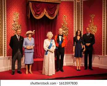 Prince Harry and Meghan: Madame Tussauds wax museum moves wax figures from Royal family set. Photo taken on 12-Jan-2020 at London, England, United Kingdom