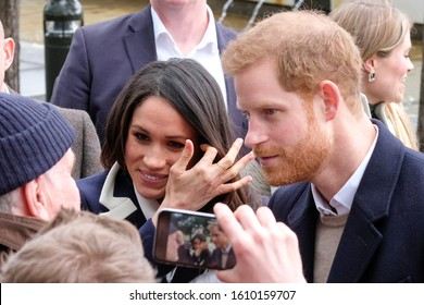 Prince Harry and Meghan Markle in Birmingham, UK. The couple were in Birmingham to mark International Women's Day 08.03.2018