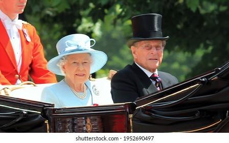 Prince Philip and Queen Elizabeth, London June 2017- Trooping the Colour  parade Prince Philip and Queen for Queen Elizabeth s Birthday, June 17, 2017 London, England, UK