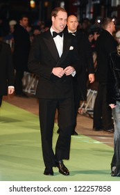 """Prince William, Duke of Cambridge arriving for the premiere of """"The Hobbit: An Unexpected Journey"""" at the Odeon Leicester Square, London. 12/12/2012 Picture by: Steve Vas"""
