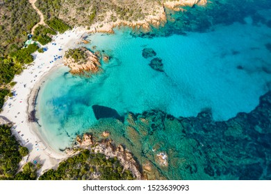 Prince's Beach, one of the most beautiful beaches of the Emerald Coast, North Sardinia