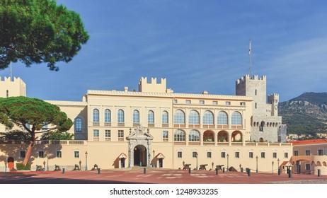 Prince's Palace of Monaco. Prince of Monaco's 13th-century residence.