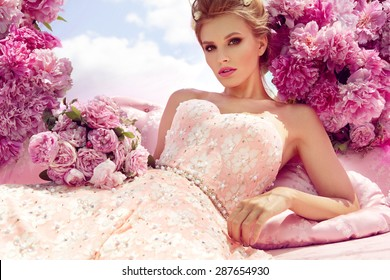 Princess. Beautiful young woman.