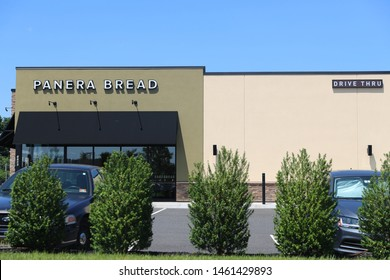 Princeton New Jersey - June 23, 2019: Panera Bread Retail Location. Panera is a Chain of Fast Casual Restaurants Offering Free WiFi V - Image