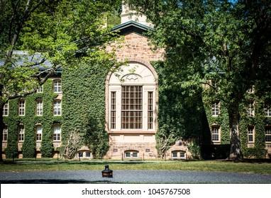 Princeton, New Jersey - September, 2016 : Nassau Hall, the oldest building at Princeton University, Princeton University is a Private Ivy League University in New Jersey, USA.