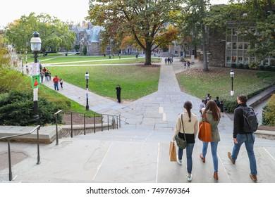 Princeton New Jersey, USA - November 4, 2017:  Princeton University is a Private Ivy League University in New Jersey, USA.