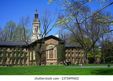 PRINCETON, NJ -16 APR 2019- View of the campus of Princeton University, a private Ivy League research university in New Jersey ranked number one undergraduate college, in the spring.