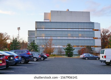 PRINCETON, NJ -22 NOV 2019- View of the Princeton Neuroscience Institute (PNI, Peretsman Scully), designed by Rafael Moneo, the Psychology and Neuroscience departments at Princeton University.