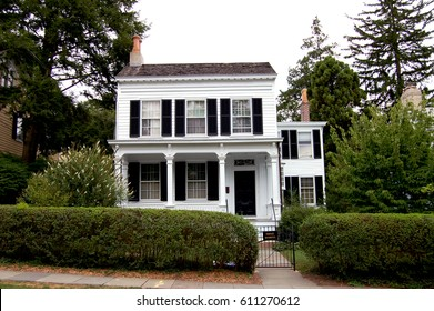 PRINCETON, NJ - Scientist Albert Einstein lived in this house, shown August 2, 2010, located at 112 Mercer St. in Princeton, New Jersey, from 1935 until his death in 1955.  It is a private residence.