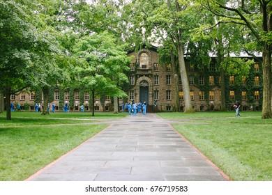 PRINCETON, USA - CIRCA MAY 2017: Nassau Hall, the oldest building at Princeton University in Princeton, New Jersey.