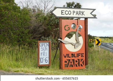 PRINCETOWN, AUSTRALIA  -10 DEC 2016- View of the Great Ocean Road Wildlife Eco park in Victoria, Australia. ,