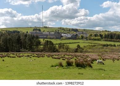 Princetown, Dartmoor, Devon, England, UK. May 2019. HM Prison Dartmoor a category C men's prison built of granite in the Dartmoor National Park.