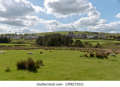Princetown, Devon, England UK. May 2019. The village of Princetown in the Dartmoor National Park and HM Prison Dartmoor.