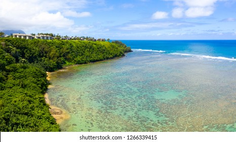 Princeville Kauai Hawaii Reef Coastal Bluffs