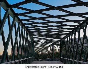 The Principality of Andorra Bridge (Puente del Principado de Andorra) in Madrid Spain