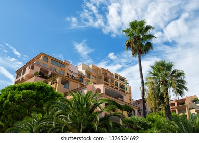 Principality of Monaco - 02.09.2018: Typical architecture of district Fontvieille