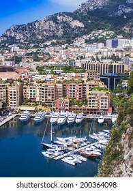 Principality of Monaco, France, July 5, 2011. View Yacht city port