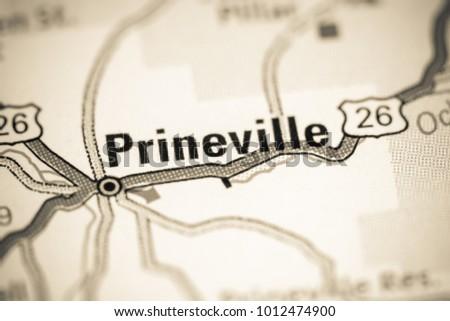 Prineville Oregon USA On Map Stock Photo (Edit Now) 1012474900 ...