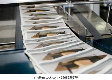 Print plant magazine offset print production line
