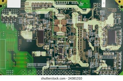Printed circuit board (close-up photo)