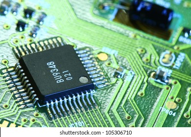 Printed Circuit Board with many electrical components